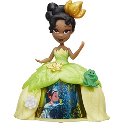 Hasbro - Mini Figurina Disney Princess Tiana cu Rochita Rotativa