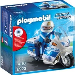 Playmobil - Set Playmobil City Action Police, Motocicleta Politiei cu Led