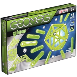 Geomag - Set Constructie Magnetic Glow 64 piese