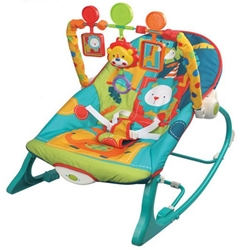 babyINFANTINI - Balansoar 2 in 1 Lion Blue