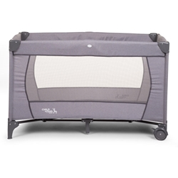 Childhome - Patut de Calatorie cu 2 Nivele Canvas Light Grey