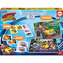 Educa - Puzzle 4 in 1 The SuperPack Mickey and the Roadster Racer 2 x 25 Piese