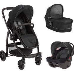 Graco - Carucior 3 in 1 Evo II Black Grey