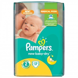 Pampers - Scutece Active Baby-Dry, Marimea 2, 17 buc, 3 - 6 kg