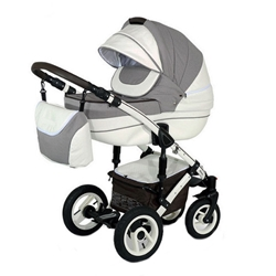 Krausman - Carucior 3 in 1 Sendo White Light Brown