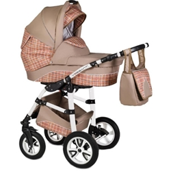 Vessanti - Carucior Flamingo Easy Drive 3 in 1 Beige