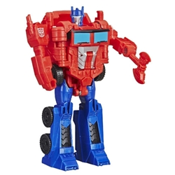 Hasbro - Figurina Transformers Cyberverse 1-Step Optimus Prime, Colectia Action Attackers