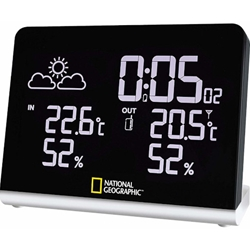 National Geographic - Statie Meteorologica Wireless cu Display 256 Culori
