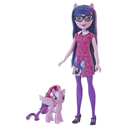 Hasbro - Papusa Twilight Sparkle cu Ponei, Colectia Equestria Girls Through the Mirror