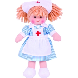 Bigjigs - Papusa Nurse Nancy