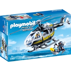 Playmobil - Set de Constructie Elicopter Echipei SWAT - City Action