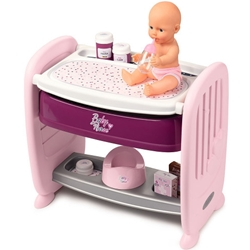 Smoby - Patut Co-Sleeper pentru Papusi Baby Nurse 2 in 1