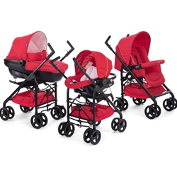 Chicco - Carucior 3 in 1 Trio Sprint Red Passion