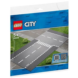 Lego - LEGO City Intersectie Dreapta si in T 60236