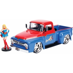 Welly -  Masinuta DC Comics Bombshells 1956 Ford F100 Supergirl