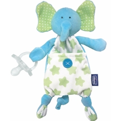 Chicco - Suport Suzeta 3 in 1 Pocket Friend Elefant