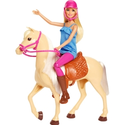 Barbie - Set Barbie by Mattel Family Pets Papusa cu Cal