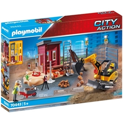 Playmobil - Set de Constructie Excavator Mic - City Action