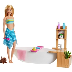 Barbie - Set Barbie by Mattel Wellness and Fitness Papusa cu Cada