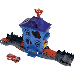 Hot Wheels - Pista de Masini Hot Wheels by Mattel Croc Mansion Attack cu Masinuta