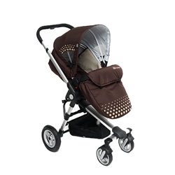 KinderKraft - Carucior 2 in 1 Kraft Brown