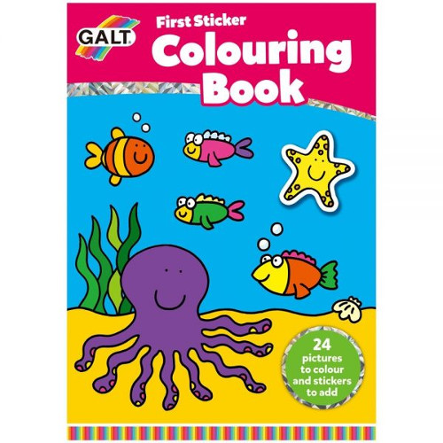 Galt First Sticker Colouring Book – Prima Carte de Colorat + Abtibilduri