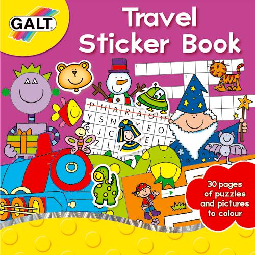 Galt Travel Sticker Book – Carte Activitati cu Abtibilduri pentru Calatorie
