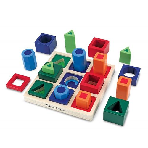 Melissa and Doug Set Incastre Forme de Sortat pe Tabla