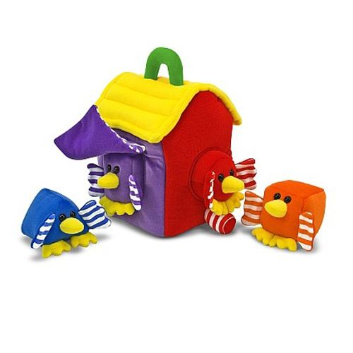 Melissa and Doug Forme de Sortat din Plus Casuta Pasarelelor