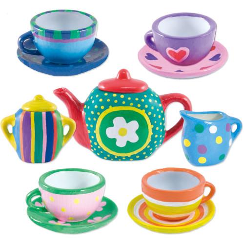 Paint A Tea Set - Picteaza Setul de Ceai
