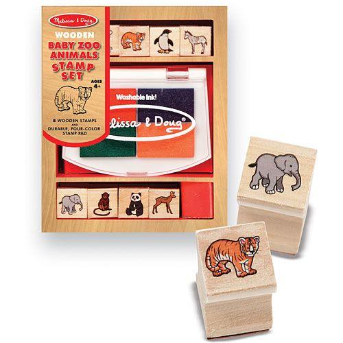 Set de Stampile Pui de Animale Salbatice
