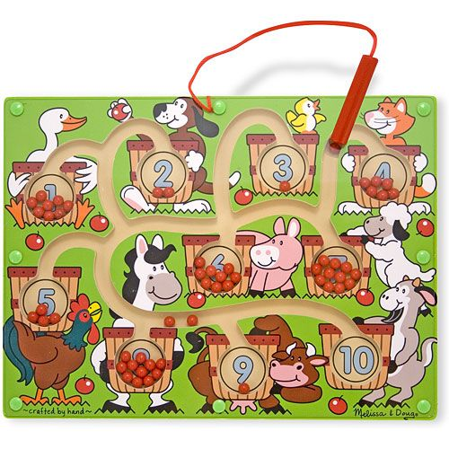 Melissa and Doug Joc din Lemn Labirint Magnetic Numerele
