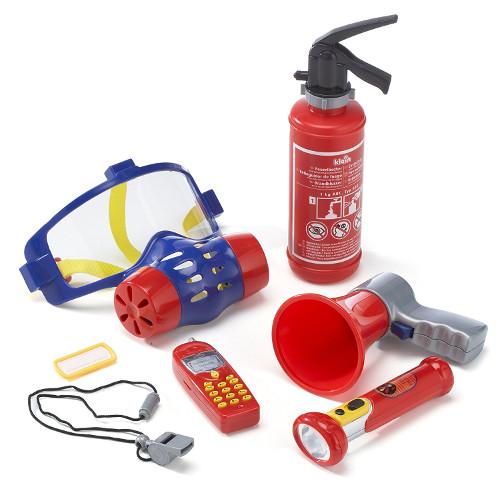 Set 7 Accesorii Pompier cu Lanterna si Masca de Gaze thumbnail