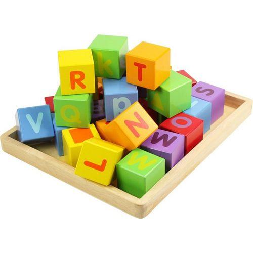 Bigjigs Cuburi pentru Format Cuvinte ABC