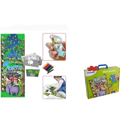 Miniland Puzzle de Podea Educativ cu Numere 40 Piese