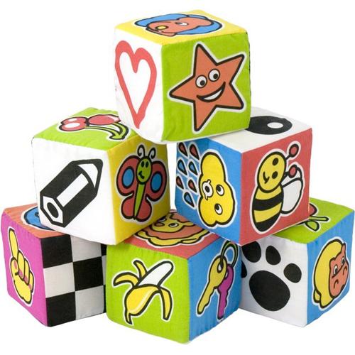 Miniland Set 6 Cuburi Educationale pentru Bebelusi