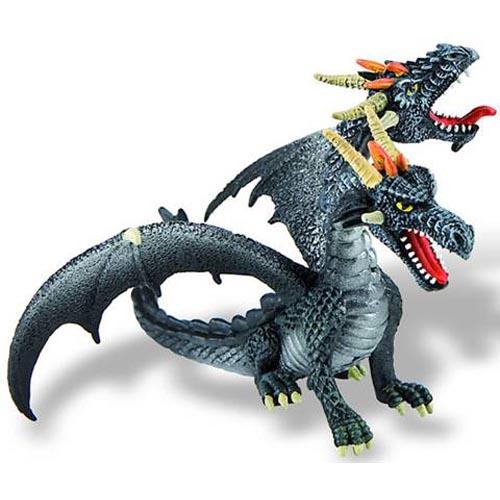 Bullyland Figurina Dragon Negru Cu 2 Capete