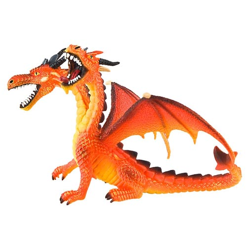 Figurina Dragon Orange Cu 2 Capete