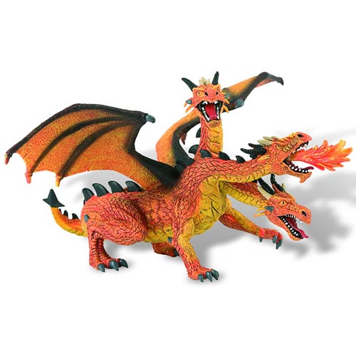 Figurina Dragon Orange Cu 3 Capete