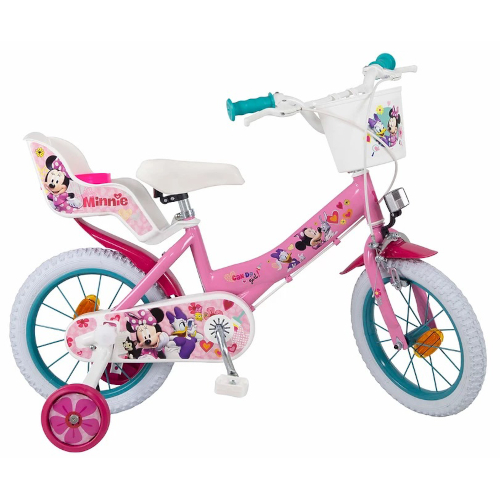 Bicicleta Minnie Mouse Club House 14 inch Roz