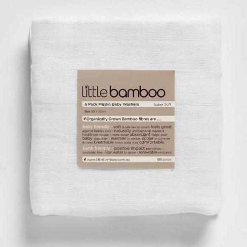 Little Bamboo Muselina din Bambus Organic Baby Wash 6 Bucati