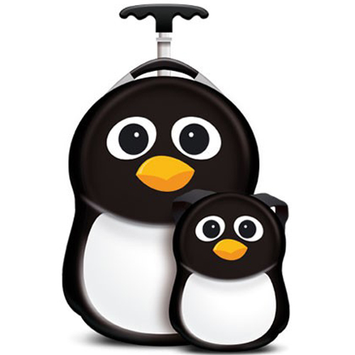 Set Troler si Ghiozdan Peko the Penguin