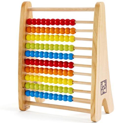 Abac din Lemn cu Bile Colorate