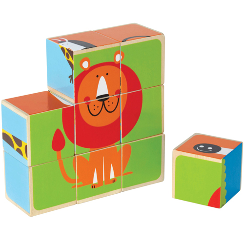 Puzzle Cubic Animale de la Zoo