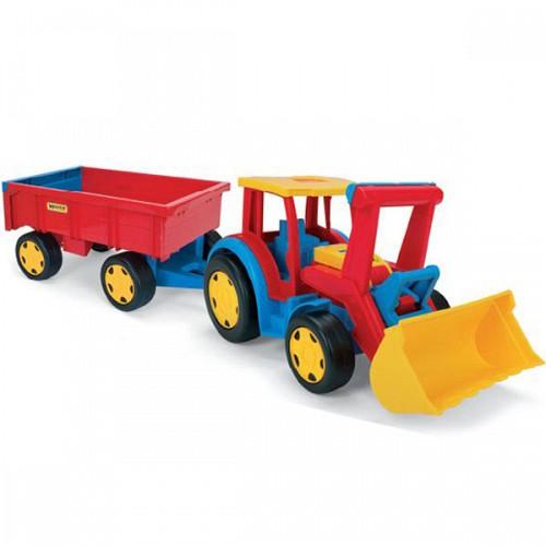 Tractor Gigant cu Excavator si Remorca