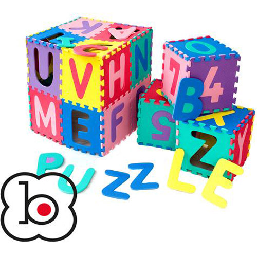 BabyGo Salteluta de Joaca Puzzle cu Cifre si Litere