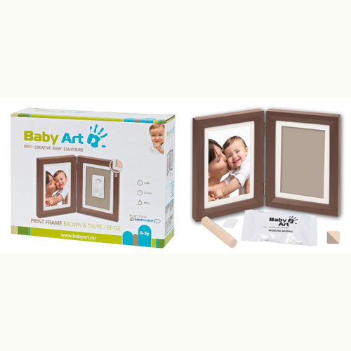 Print Frame Brown And Taupe-Beige