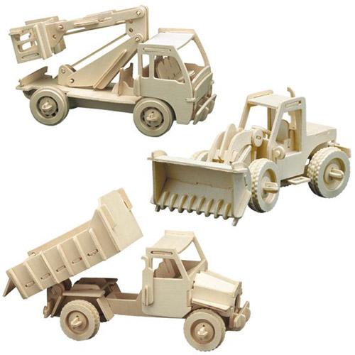 Puzzle 3D Masini de Constructii