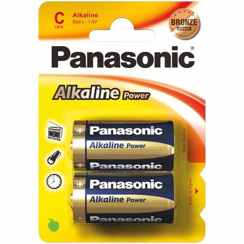 Set 2 Baterii Tip C Alkaline Power