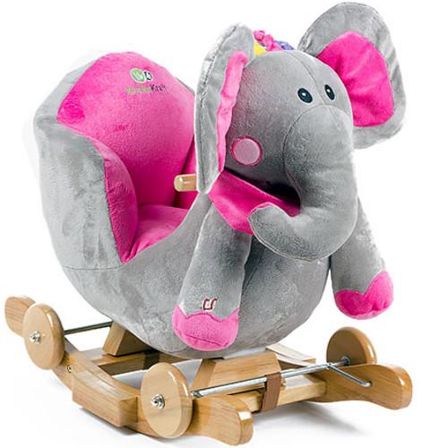 Balansoar 2 in 1 cu Roti si Sunete Elefant